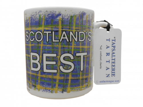 Scottish Scotland gift tartan ceramic mug scotland's best blue