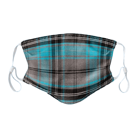scottish gift face covering mask blue tartan