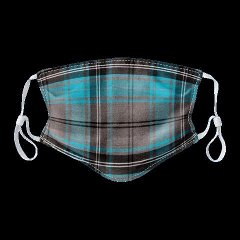 scottish gift face covering mask blue tartan