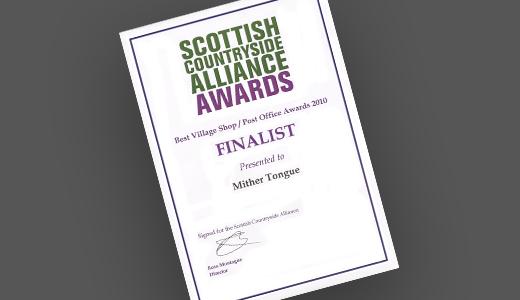 Scottish Countryside Alliance Awards Finalist